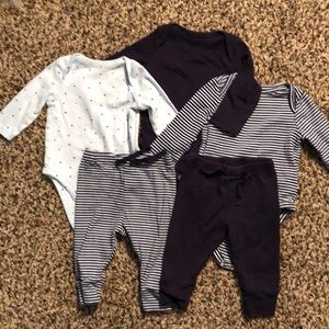 Gap 3-6 month onesies and pants